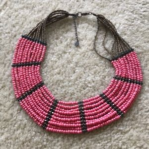 Aldo Pink Beaded Necklace